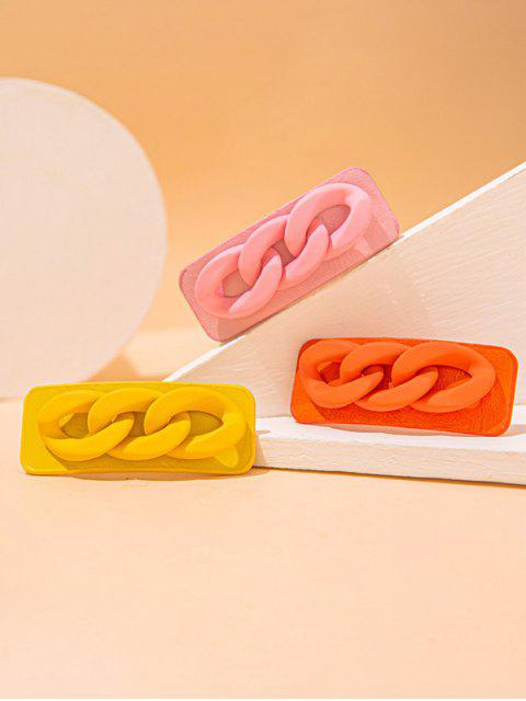 sale 3 Piece Multicolored Chain Pattern Hair Barrettes Set - MULTI  Mobile