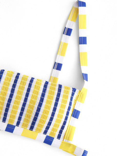 ZAFUL Gestreifte Kittel Tanga Bikini Badebekleidung - Multi S Mobile