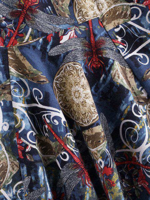 Pantalones Libélula Estampado Floral Libélula - Multicolor-A 2XL Mobile