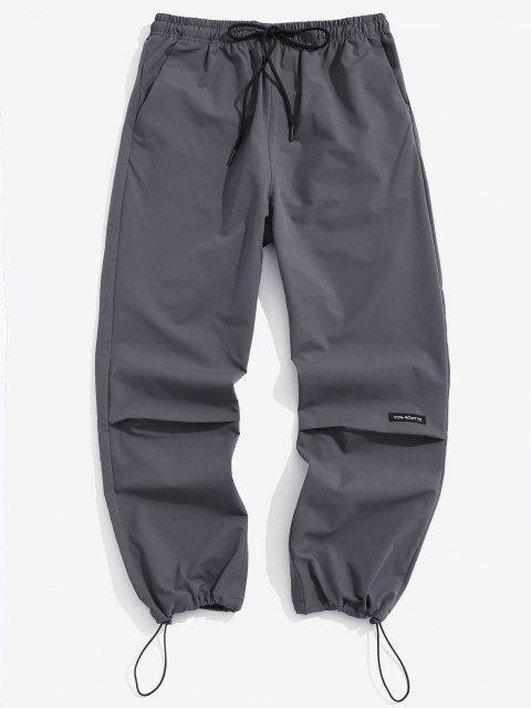 Buchstabe Grafikdruck Elastische Taille Hose - Dunkelgrau XS Mobile