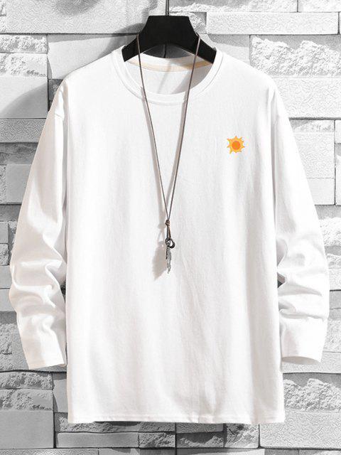 Camiseta Básica con Estampado de Árboles - Blanco 3XL Mobile