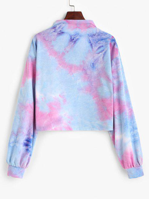ZAFUL Tie Dye Butterfly Embroidery Sweatshirt - متعددة-A L Mobile