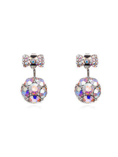 Bowknot Ball Two Ways To Wear Earrings - Multi-a