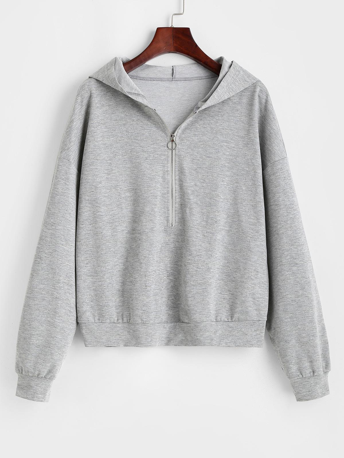 ZAFUL Half Zip Pullover Hoodie