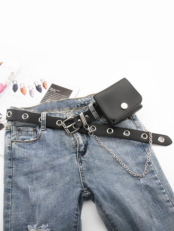 Punk Bag O Ring Chain Belt