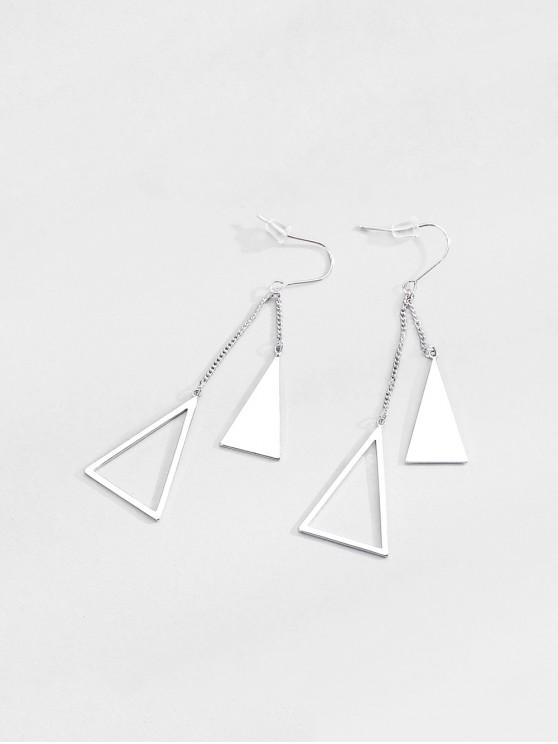 chic Hollow Out Geometric Shape Drop Earrings - SILVER