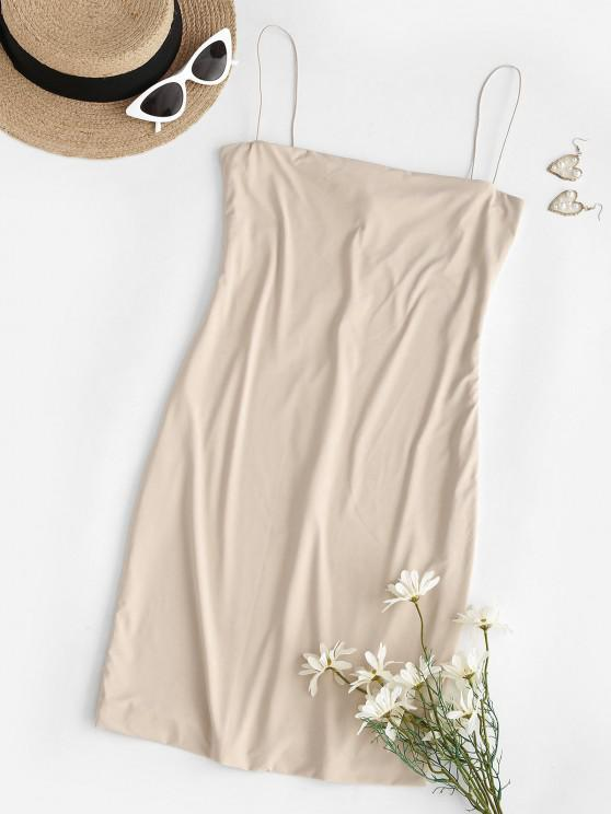 best Bodycon Mini Club Slip Dress - LIGHT COFFEE M