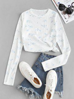 Textured Floral Slim Long Sleeve Tee - Alice Blue S