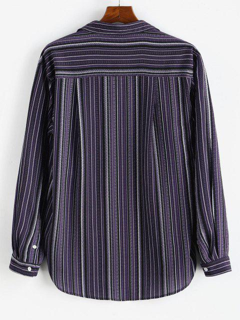 Tribal Stripes Print Button Down Shirt - اتفاق 3XL Mobile