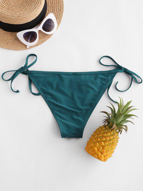 ZAFUL Bikiniunterteil mit Seitlicher Rüschen - Dunkelgrün S Mobile