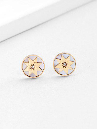 18K Gold Plated Star Earrings - Golden