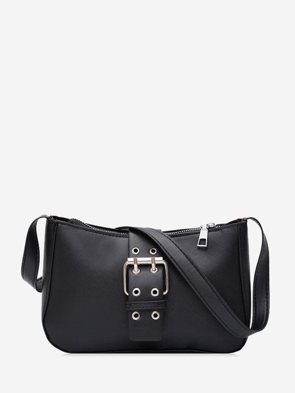 Buckle Zipper French Shoulder Bag