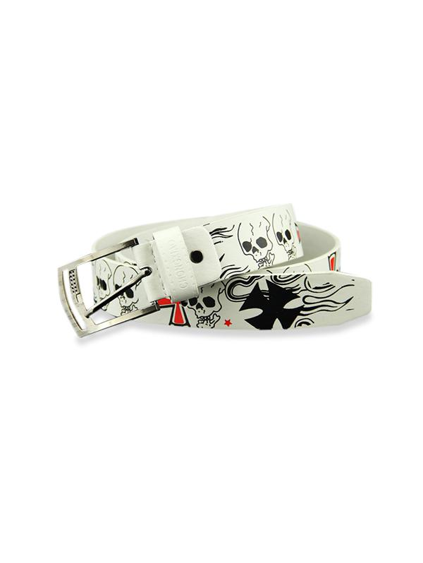Punk Skull Print Decorative Belt
