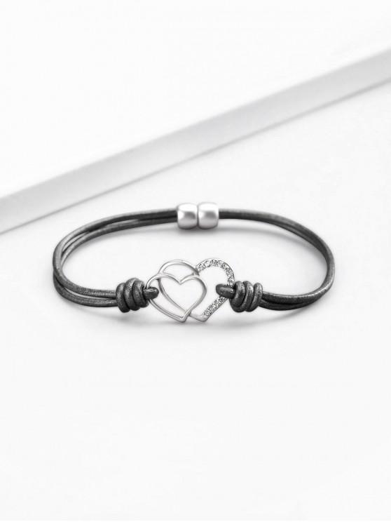best Artificial Crystal Love Heart Shape Bracelet - SILVER