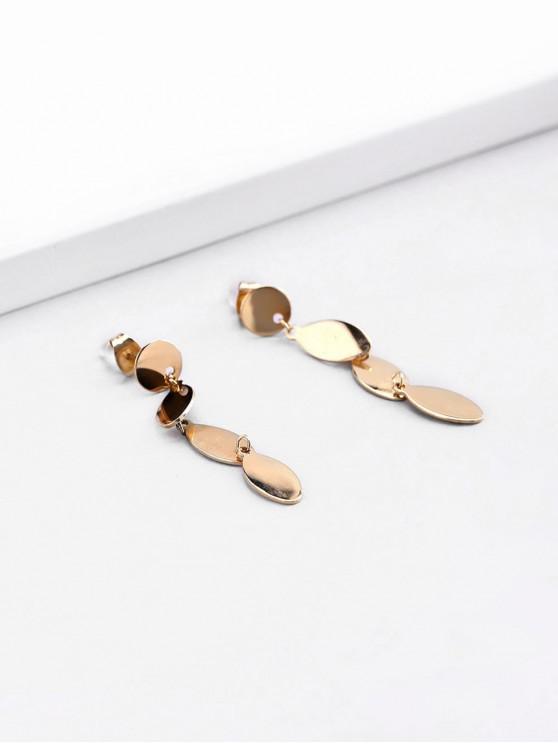 new 18K Gold Plated Leaves Shape Drop Earrings - GOLDEN