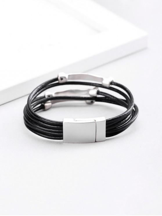 ladies Silver Plated Layered Bracelet - SILVER