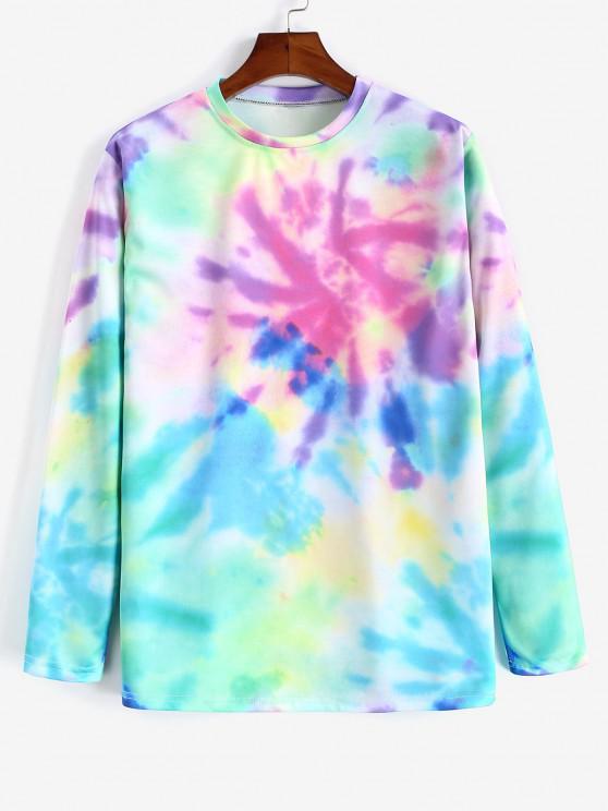 Tie-dye Print Long Sleeve T-shirt - متعددة-A M