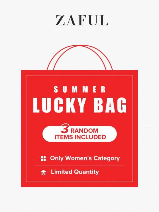 womens ZAFUL Summer Lucky Bag - 3 Random Items Included - Only Women's Category - Limited Quantity - MULTI L
