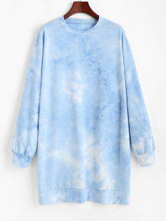 Vestido Jersey Hombro Caído Tamaño Extra Grande - Azul S