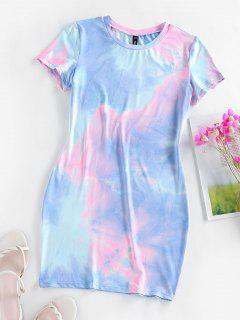 ZAFUL Tie Dye Bodycon Mini Dress - Multi-f S