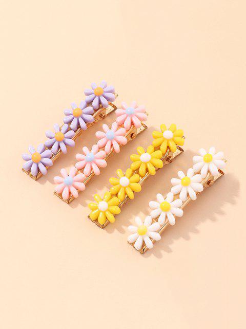 sale 4Pcs Daisy Hair Clip Set - MULTI-A  Mobile