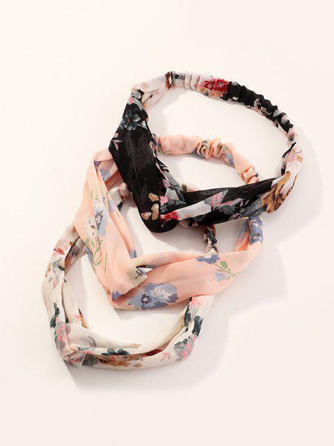 3pcs Conjunto de Cabeza Elástico Floral - Multicolor-A  Mobile
