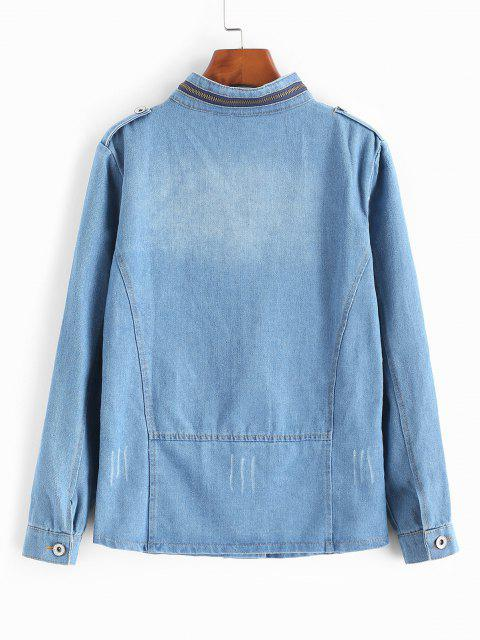 Dieses Kleid mit Spaghettiträger Betont Ein Retro Tupfenmuster, Ein Dehnbares - Helles Blau L Mobile