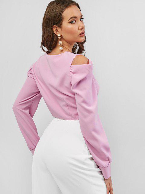 Top Corta Al Hombro - Negra - Rosa claro M Mobile