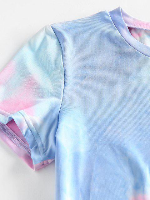 ZAFUL Krawattenfärben Bodycon Minikleid - Multi-F M Mobile