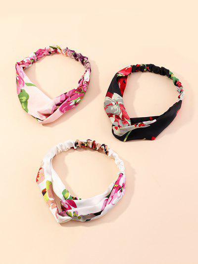 3Pcs Floral Printed Headband Set - Multi-a