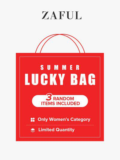 ZAFUL Summer Lucky Bag - 3 Random Items Included - Only Women's Category - Limited Quantity - Multi Xl