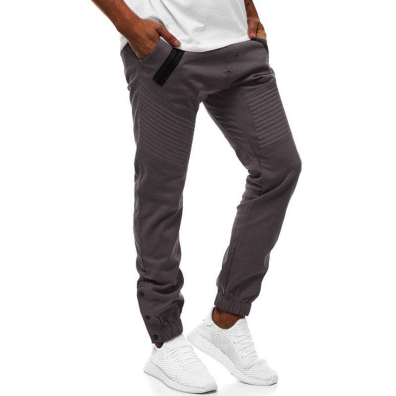 zaful Mock Zipper Pocket Jogger Pants