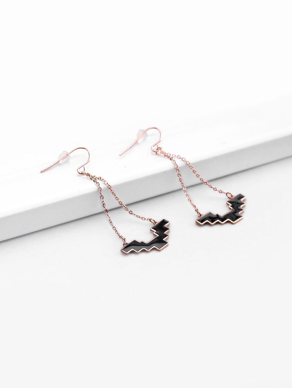 Rose Gold Plated Dangle Earrings
