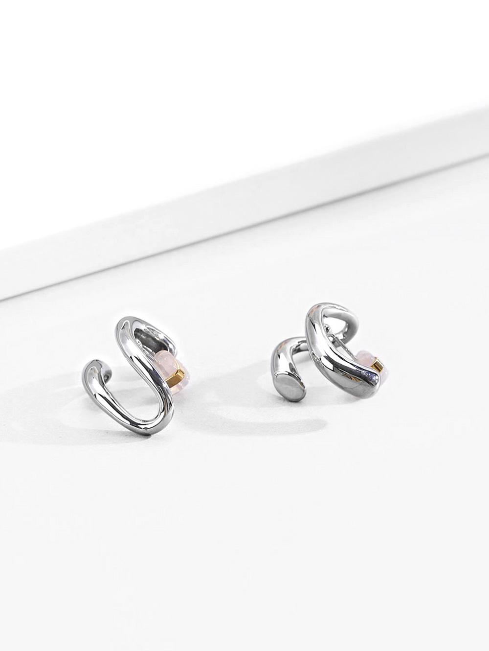 Music Note Platinum Plated Earrings