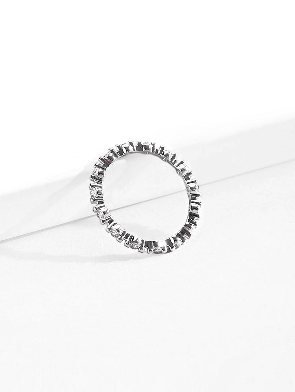 Tiny Rhinestone Thin Finger Ring