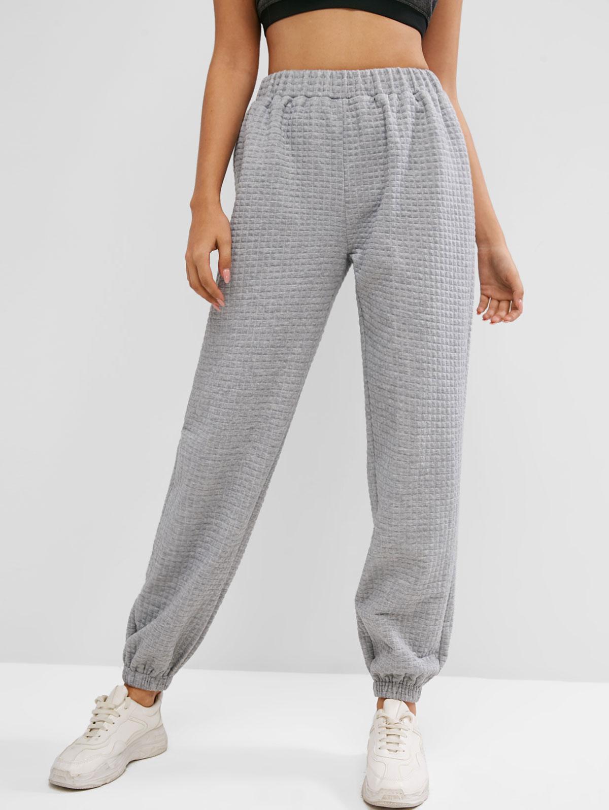 ZAFUL High Waisted Plain Sweatpants