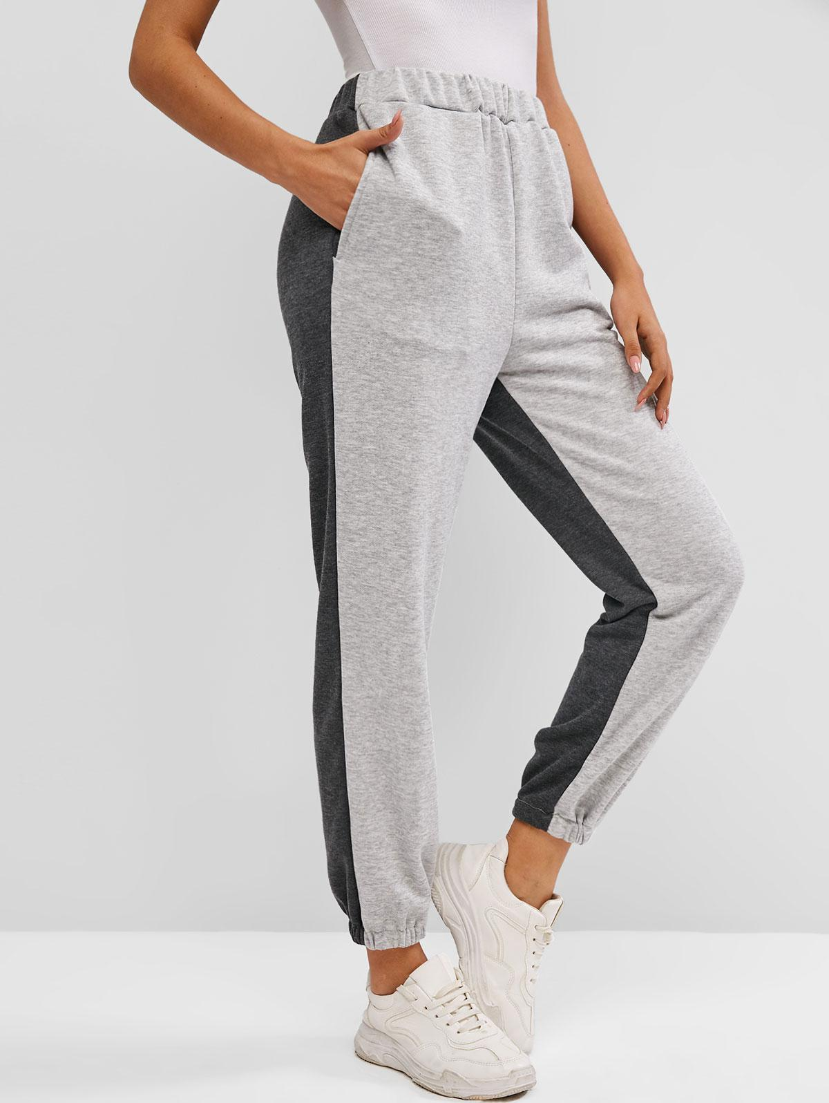 French Terry Bicolor Jogger Pants