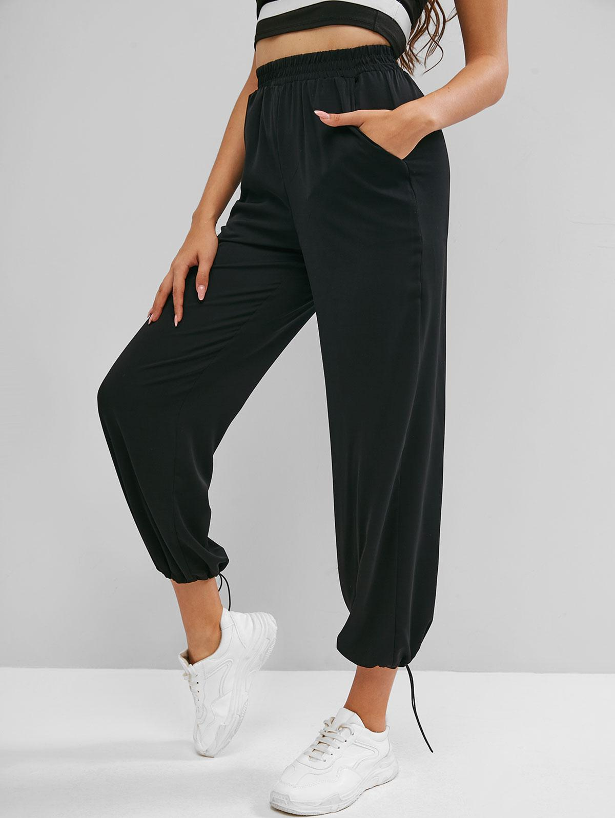 High Rise Pull On Pants