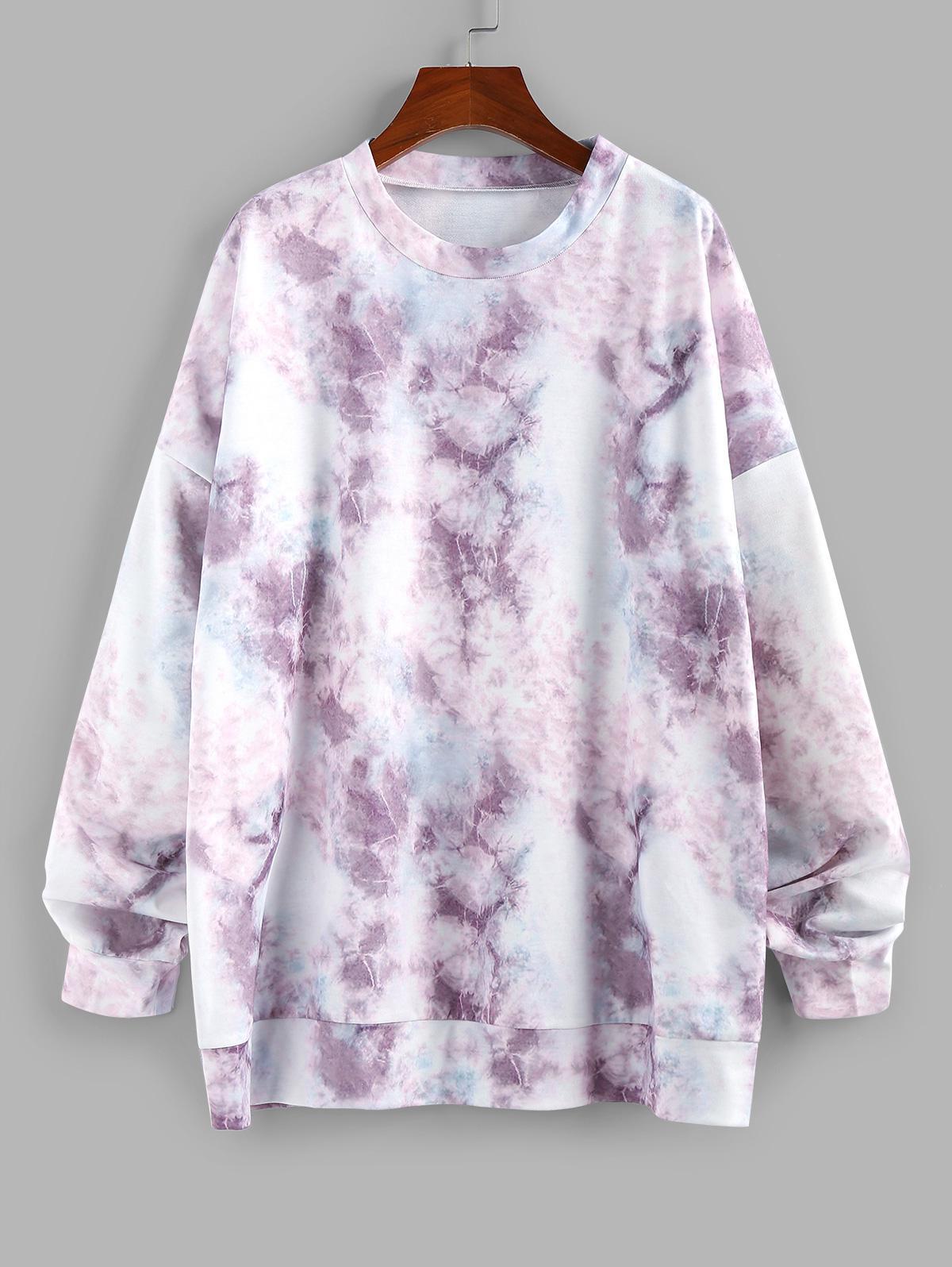 ZAFUL Oversized Marble Drop Shoulder Sweatshirt