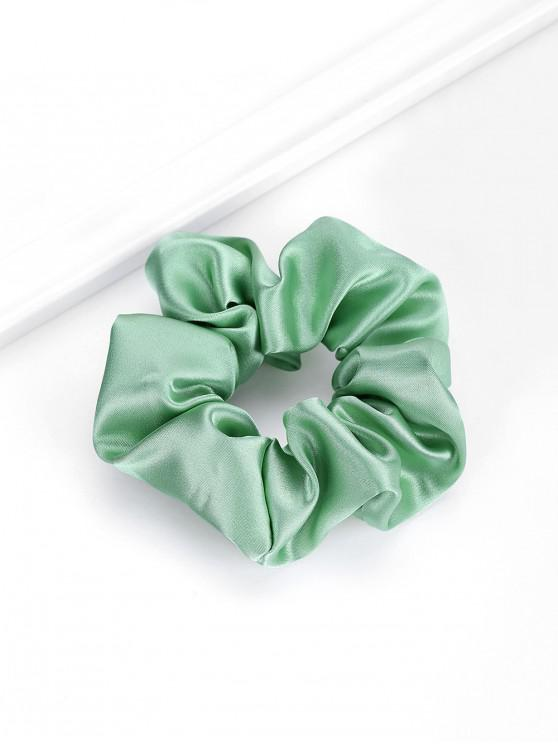 new Solid Satin Fabric Elastic Scrunchy - GREEN
