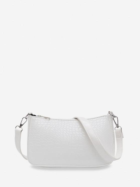 sale Animal Embossed Simple Style Sling Bag - WHITE