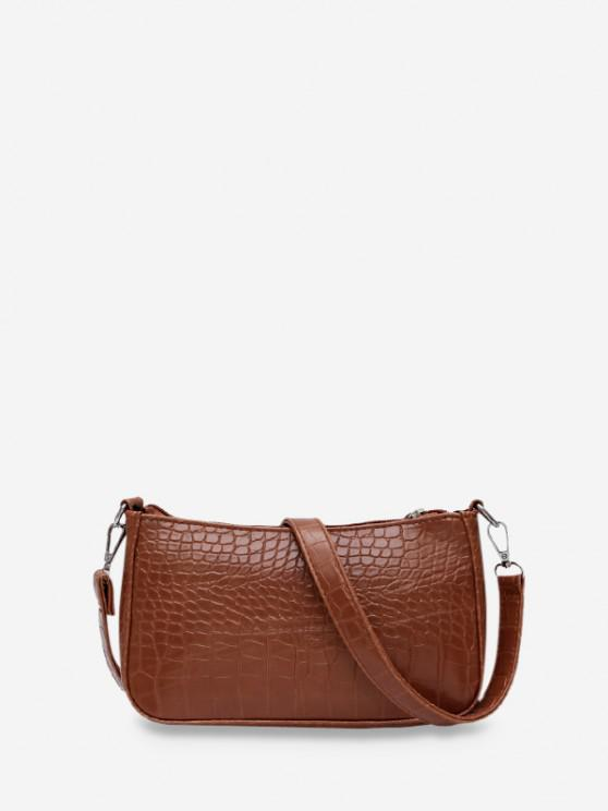 buy Animal Embossed Simple Style Sling Bag - COFFEE