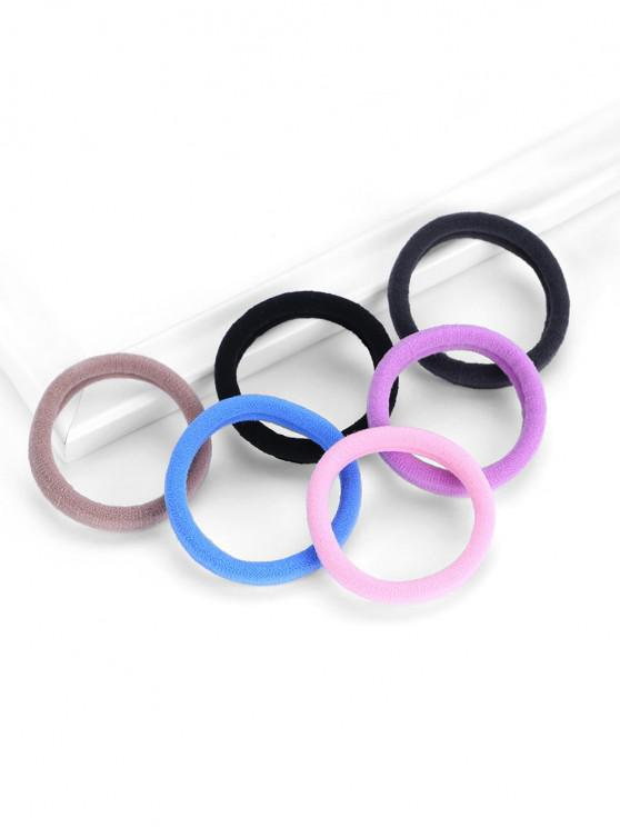 20 Piece Multi-color Simple Style Elastic Hair Bands Set - متعدد