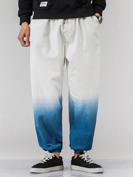 Ombre Beam Füße Lässiger Pull Hose - Blaubeere 2XL