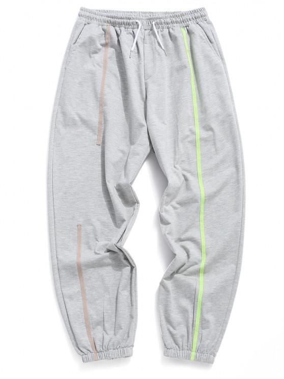 Jogger Pantalones Deportivos de Neón con Cintura Elástica - Gris L