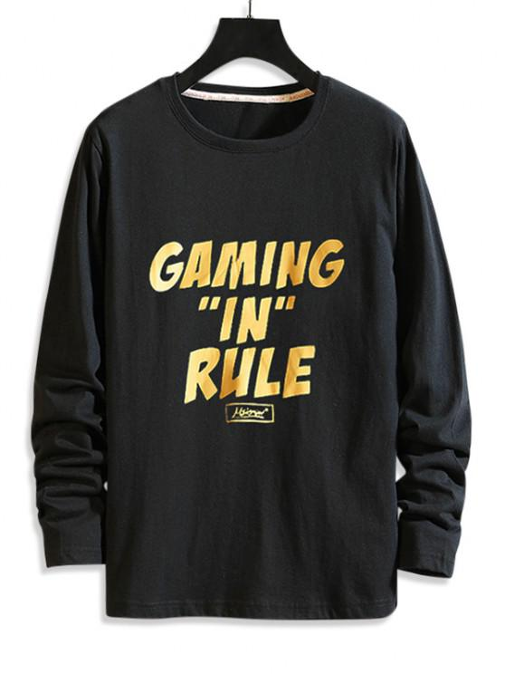 Gaming In Rule Graphic T Shirt - أسود L