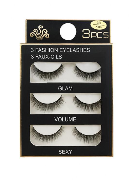 shops Long Extensions Criss Cross False Eyelashes - BLACK 3D-X05