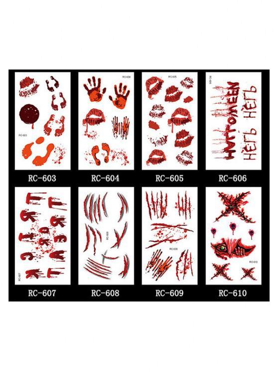 Halloween Blut Wunde Tattoo-Aufkleber-Set Set - Multi-C