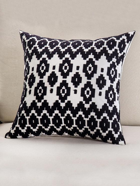 fashion Embroidered Geometric Pattern Cotton Pillowcase - MULTI-C W18 X L18 INCH