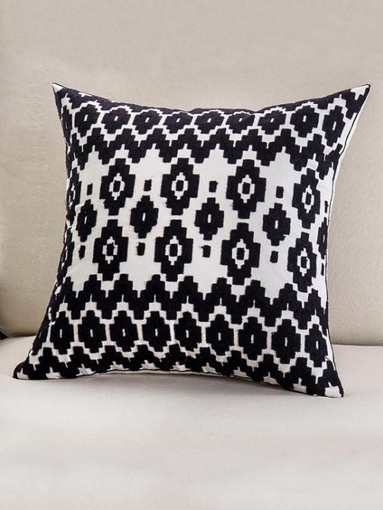 Embroidered Geometric Pattern Cotton Pillowcase - متعددة C W18 × L18 بوصة